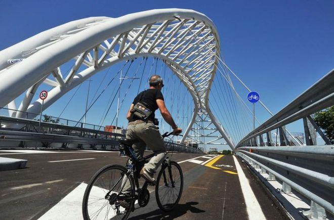 WCENTER 0TMGCCPNCA PAOLO CAPRIOLI AGENZIA TOIATI Inaugurazione Ponte Ostiense, Cavalcaferrovia.