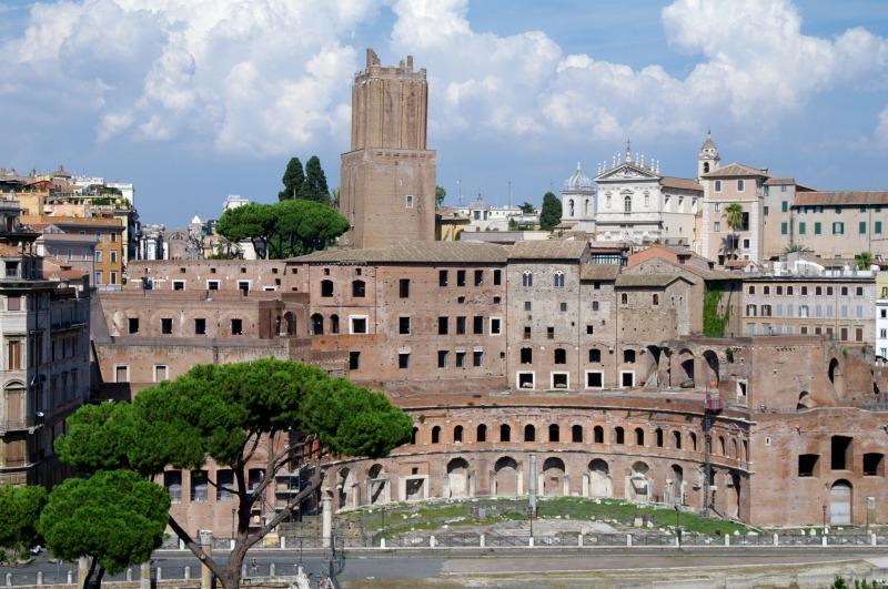 vista do terraço panorâmico em roma