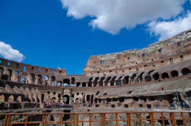 visita ao subterráneo do Coliseu