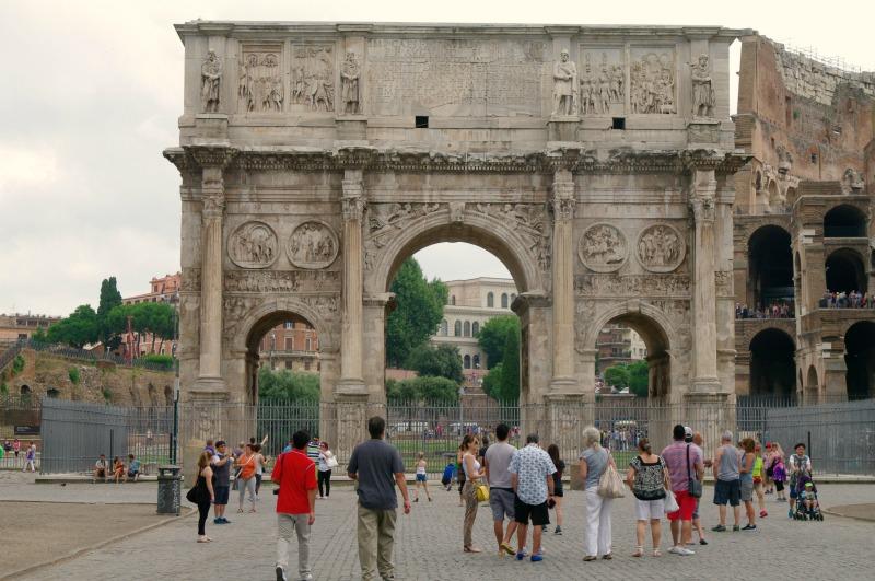 roma antiga - arco de constantino