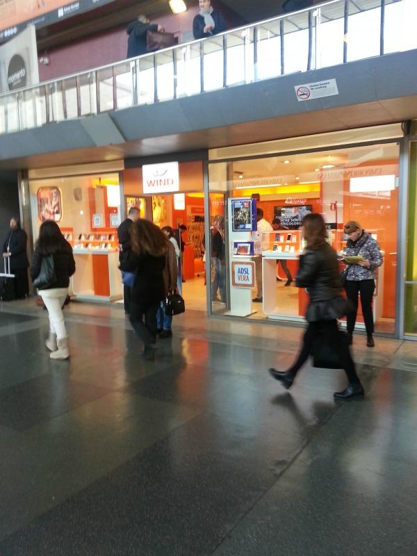 chip pré-pago na estação termini