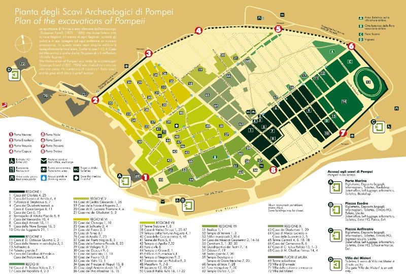 pompeia mapa Passeio de um dia em Pompeia e suas ruínas milenares | Roma Pra Você pompeia mapa