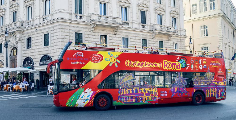 onibus turistico em roma