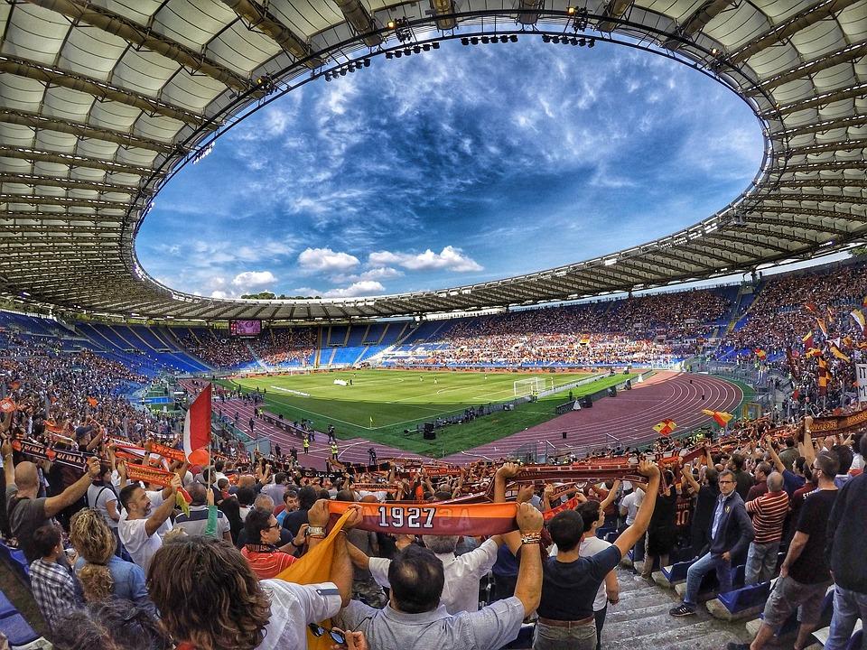 Estádio de Roma, na Itália