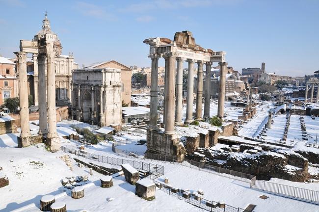 neve em roma no inverno
