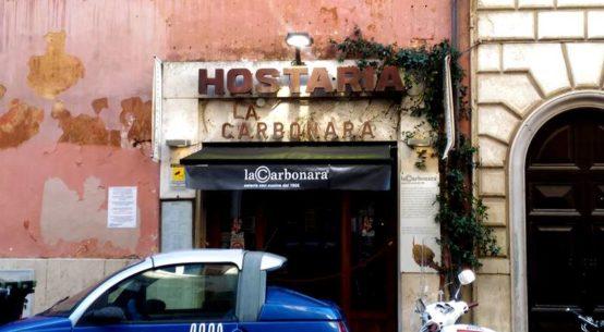 comer carbonara em roma